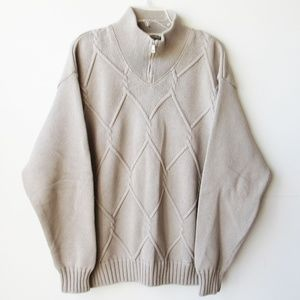 Blue Willi's High Neck Cable Knit Men's Sweater
